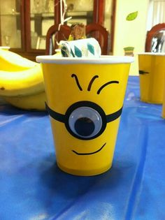 Minion cups with sharpie!