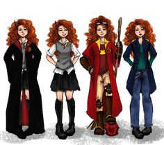 The Big Four: Merida outfits by ZLynn.deviantart.com on @deviantART