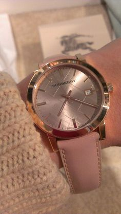 Rose Gold Burberry watch