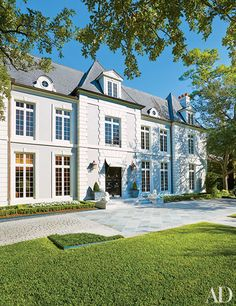 This 17th-century-French-style mansion in the historic River Oaks neighborhood of Houston was built in the 1990s.
