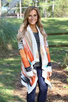 Along The Way Cardigan: Multi - Off the Racks Boutique