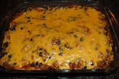 Taco Lasagna - Easy to make but I don't like corn tortilla's, I will go with flour tortilla's and top with sour cream - YUM!