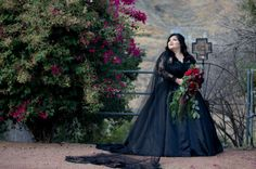 23 Dark Wedding Dresses For Brides Who Think White Is Trite Colored Wedding Dresses, Wedding Dress Styles, Wedding Gowns, Gothic Wedding, Rose Wedding, Different Dresses, Alternative Wedding, Bridal Style, Marie