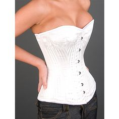 Ivory Corset - Steel boned overbust corsets