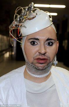 Quirky: Novelist Michał Witkowski caused a stir at Fashion Week Poland...