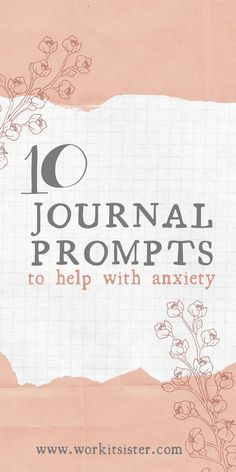10 Journal Prompts for Anxiety and How to Set Up An Anxiety Journal Learn how to set up an anxiety journal and how it can help you. Includes 10 journal prompts for anxiety. Mental Health Art, Mental Health Journal, Art Journal Prompts, Art Journal Techniques, Bullet Journal Printables, Bullet Journal For Adhd, Journal Inspiration, Journal Ideas, Walking Tall