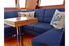 Update to your interior to fall in love with your boat all over again. Yacht interior design by Onboard Interiors