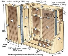 Woodworking Shop Woodshop storage cabinet plans Why buy detailed gun cabinet plans Detailed are essential if you want your gun cabinet to be top quality when your proj Carpentry Projects, Diy Wood Projects, Woodworking Workshop, Woodworking Tips, Woodworking Workbench, Workbench Plans, Woodworking Organization, Intarsia Woodworking, Woodworking Techniques