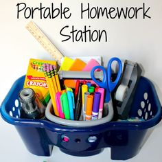 With this portable homework caddy, it doesn't matter if they are working in their bedrooms or in the kitchen, the supplies can come with them