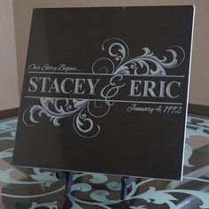 Laser Engraved Granite, Marble, Tile and Stone