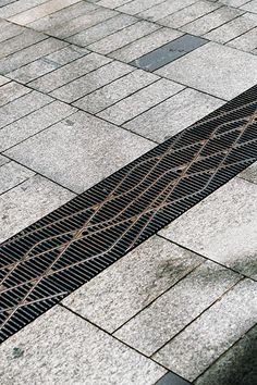 Stormwater grating in Pitt Street Mall, Sydney, Australia by Tony Caro Architecture. Click image for full profile and visit the slowottawa.ca boards >> http://www.pinterest.com/slowotta