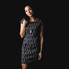 Fair Trade Certified   Black Woven Ikat Dress   MadeFAIR   Ethical Fashion