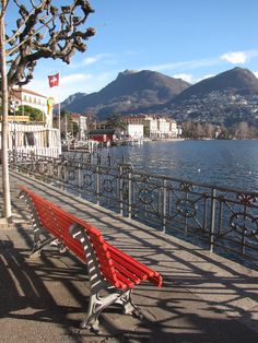 Lugano.  Switzerland is one of those places (like New Zealand) that actually is even MORE beautiful in person than in pictures.  I loved Lugano--as I loved every single city in Switzerland that I visited.  Would live there in a heartbeat... if they'd take me.  :)