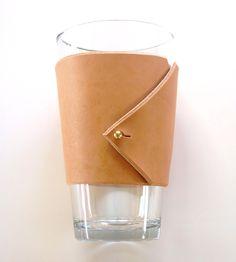 Tilda Leather Pint Glass Sleeve