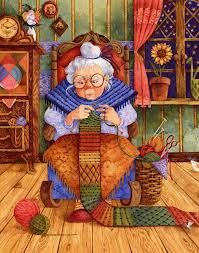 Knitting Granny, me in a few years.