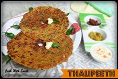 THALIPEETH RECIPE / MULTIGRAINS INDIAN FLAT BREAD | Cook With Smile