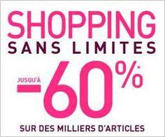 Shopping Sans Limites chez La Redoute, c'est reparti avec des promos jusqu'à -60% de réduction sur des milliers d'articles...