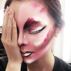 *MASTER CLASS* Our lucky International Makeup students got to sit back and watch this painterly masterpiece come together in their Extreme Fashion Makeup class with Blanche instructor/graduate Timothy Hung!