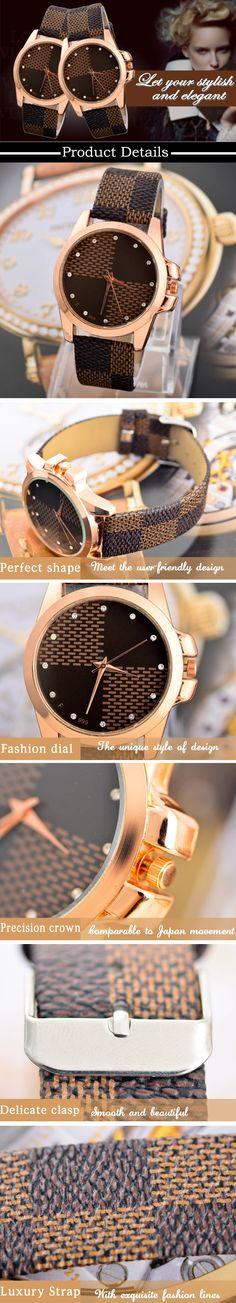 2014 de Moda de Nova Marca Grade couro Strap Watch Quartz Assista mulheres casual mulheres relógios de pulso Ladies vestir relógios em Relógios de Pulso Fashion - Feminino de Relógios no AliExpress.com | Alibaba Group