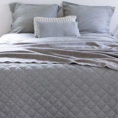 Soldes hiver 2016 Couvre-lit en flanelle de coton gris chiné St Moritz House in Style : Decoclico