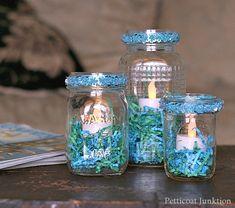 Make Mason Jar Candleholders Using LED Candles