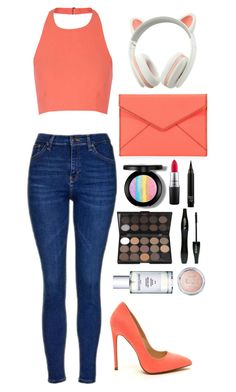 """Femaline."" by krys-imvu on Polyvore featuring Rebecca Minkoff, Topshop, Elizabeth and James, MAC Cosmetics and Lancôme"