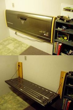 Need More Seating in Your Garage? Then This Tailgate Fold up Bench Could be For You
