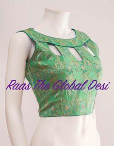 Saree Jacket Designs, Choli Blouse Design, New Saree Blouse Designs, Salwar Neck Designs, Kurta Neck Design, Fancy Blouse Designs, Bridal Blouse Designs, Blouse Styles, Stylish Blouse Design