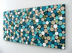 Abstract Circles  Rustic Sliced Wood Art by ModernRusticArt, $450.00