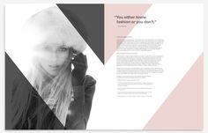 ideas fashion magazine layout design editorial for 2019 Page Layout Design, Magazine Layout Design, Editorial Layout, Editorial Design, Fashion Portfolio Layout, Portfolio Ideas, Layout Inspiration, Brochure Design, Fashion Photography