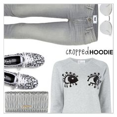 """Cropped hoodie"" by simona-altobelli ❤ liked on Polyvore featuring RED Valentino, Miu Miu, Paige Denim, Keds, Fendi, MyStyle, polyvorecontest and CroppedHoodie"