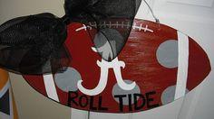 Alabama football door hanger