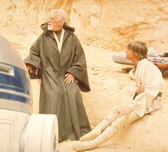 Alec and Mark. Between scenes on the set of Star Wars, A New Hope