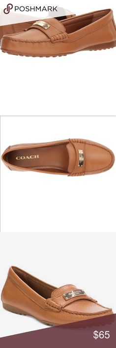 375f53a9358 Coach Fredrica Pebble leather loafers New size Brand new in box size 7 leather  loafers by Coach Color ginger Coach Shoes Flats   Loafers
