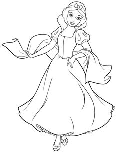 Disney Princess Snow White Coloring Page | HM Coloring Pages