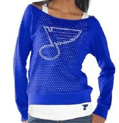 Touch by Alyssa Milan. St. Louis Blues Ladies Holy Sweatshirt & Tank Set – Royal Blue.