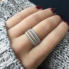 0a4303f0b67f2e Poppy Rae rings by #danarebecca Gold Diamond Rings, Diamond Bands,  Stackable Rings,. Dana Rebecca Designs