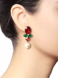 Onyx Pearl Earrings