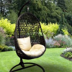 Garden Hanging Egg Chair With Cushion Co Uk Outdoors