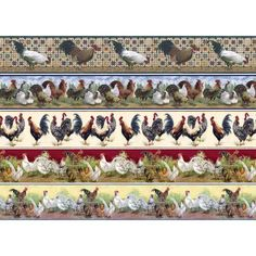 Chicken Painting, Chicken Art, Borders For Paper, Miniature Crafts, Decoupage Paper, Border Design, Home Crafts, Dollhouse Miniatures, Backdrops