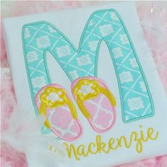 Flip Flop Alpha by Planet Applique