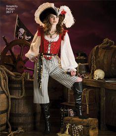 Patron de costumes de pirates pour femmes - Simplicity 7080 - Rascol