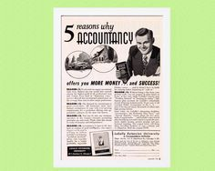 1951 ACCOUNTING Vintage Advertisement