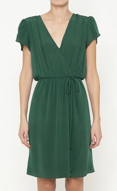 Beyond Vintage Hunter Green Dress | VAUNTE