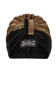 Black and Gold Contrasting Patterned Turban