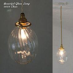 [【Japan madeのガラスシェードセット】0023 オーバルモール(クリア) - SELFISH +NET SHOP+   おしゃれな照明・天然木の家具・かわいい雑貨   セルフィッシュ