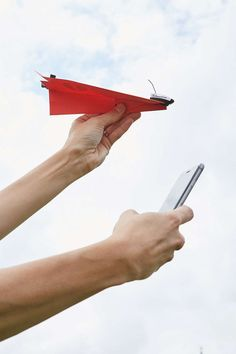 A device that turns a paper airplane into a smartphone-controlled aircraft. | 23 Ridiculously Cool Toys That Kids And Adults Will Enjoy