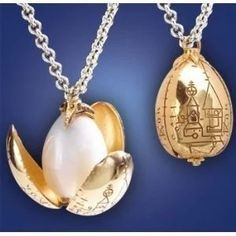 amxfus 24K Gold Plated Triwizard Tournament Golden Egg Necklace Dragon Egg Pendant Necklace with an Elegant Jewelry Gift Box