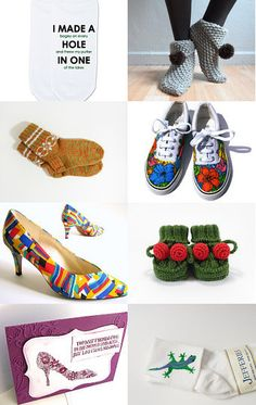Shoes and Socks by Midnightsvintage on Etsy--Pinned with TreasuryPin.com
