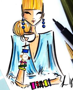 High Tea & Arm Candy   @diarysketcheslk #FashionIllustrations| Be Inspirational ❥|Mz. Manerz: Being well dressed is a beautiful form of confidence, happiness & politeness